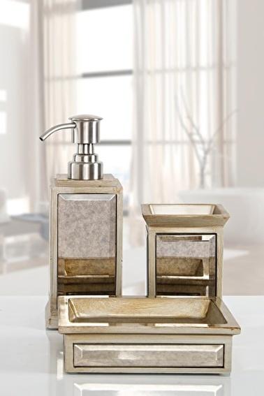 İrya Mirror Bronz 3 Parça Banyo Seti Renkli